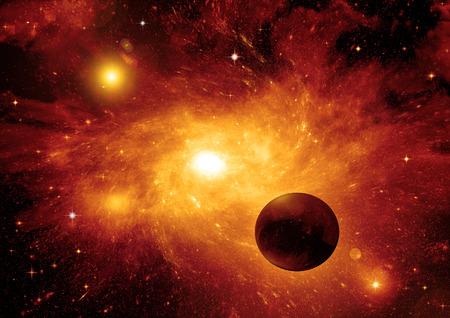 raum: Galaxien in einem freien Raum