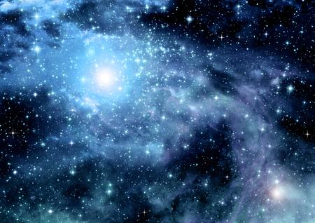 galaxy in a free space 免版税图像