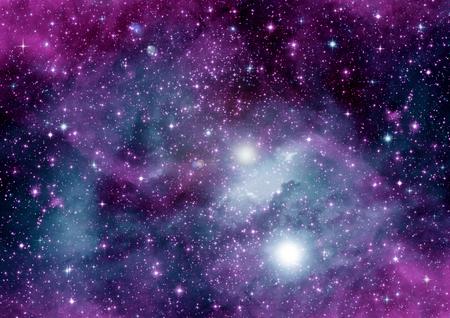 """Sterren van een planeet en sterrenstelsel in een vrije ruimte """"Elementen van deze afbeelding geleverd door NASA"""""""