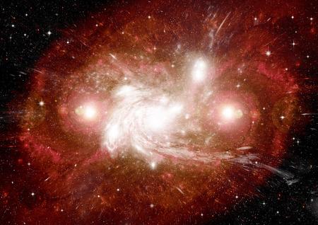galaxie: Sterne des Planeten und Galaxien in einem freien Raum