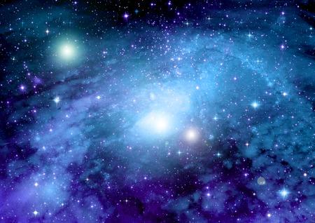 Sterren, stof en gas nevel in een ver sterrenstelsel