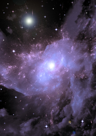 astral: Stars, dust and gas nebula in a far galaxy