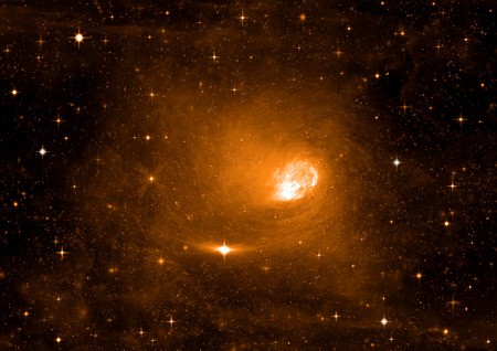 galaxie: Galaxien in einem freien Raum