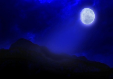 shined: mountains shined with a moonlight