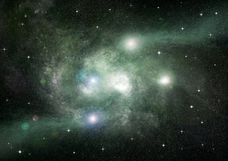 vast: Stars of a planet and galaxy in a free space