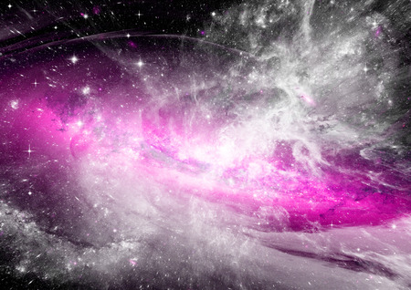 brilliance: Stars of a planet and galaxy in a free space