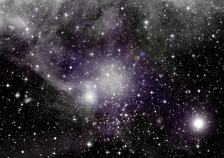 clouds sky: Stars of a planet and galaxy in a free space
