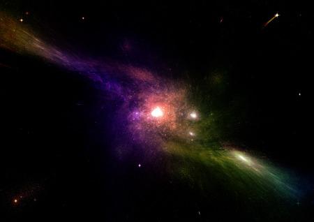 자유 공간에서 행성과 은하의 별. 이 이미지의 요소는 NASA에서 제공 한 것입니다.