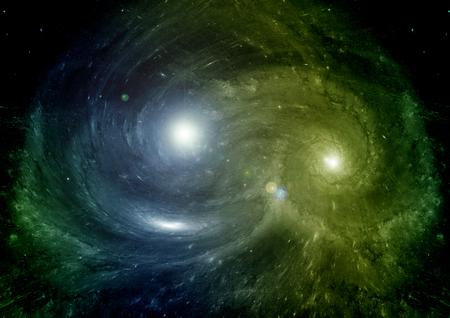 estrellas de un planeta y la galaxia en un espacio libre Foto de archivo