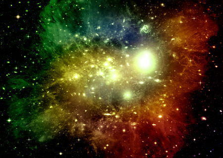 galaxy in a free space Stock Photo