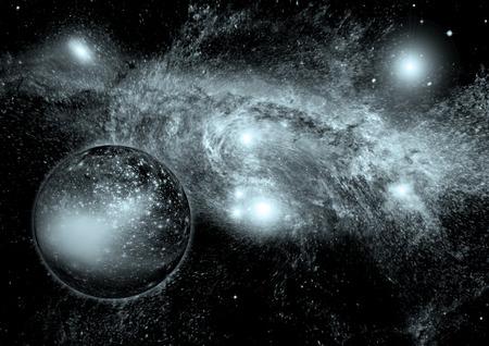 galaxia en un espacio libre