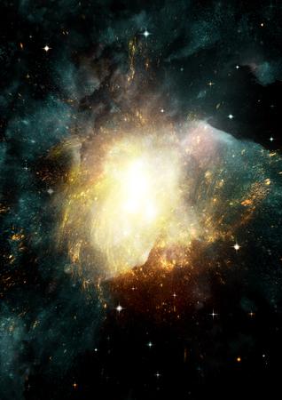 Stelle di un pianeta e galassia in uno spazio libero Archivio Fotografico