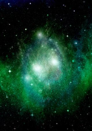 Étoiles d'une planète et d'une galaxie dans un espace libre Banque d'images