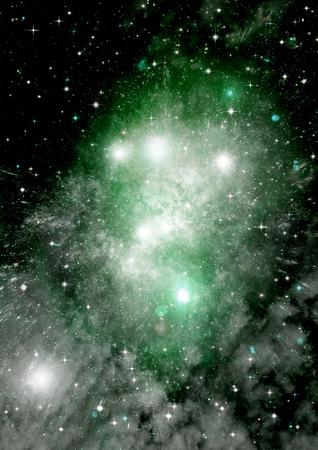 Gwiazdy planety i galaktyki w wolnej przestrzeni Zdjęcie Seryjne