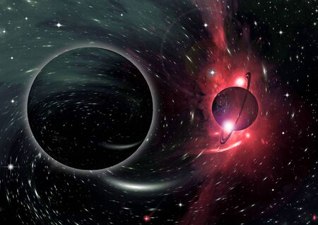 galaxy in a free space. 3D rendering Фото со стока