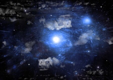 galaxy in a free space. 3D rendering Stok Fotoğraf - 133335212