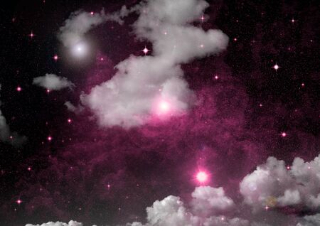 galaxy in a free space. 3D rendering Stok Fotoğraf - 133335215