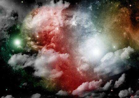 galaxy in a free space. 3D rendering Stok Fotoğraf - 133353604
