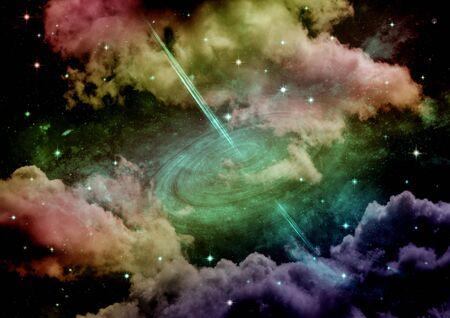 galaxy in a free space. 3D rendering Stok Fotoğraf