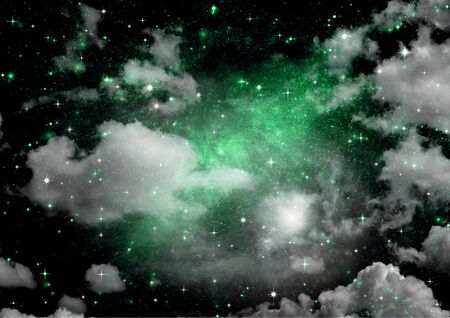 galaxy in a free space. 3D rendering Stok Fotoğraf - 133487551