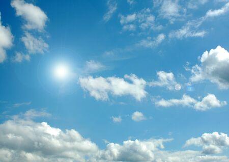 white clouds in a blue sky Stok Fotoğraf
