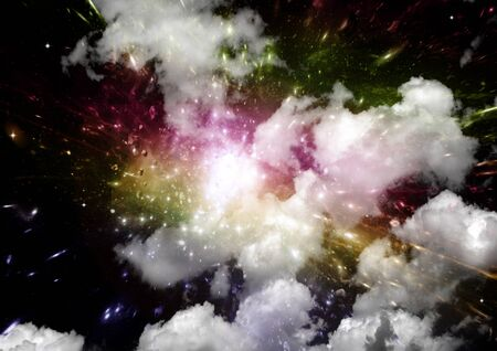 galaxy in a free space. 3D rendering 版權商用圖片