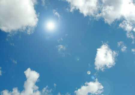 white clouds in a blue sky Stock fotó