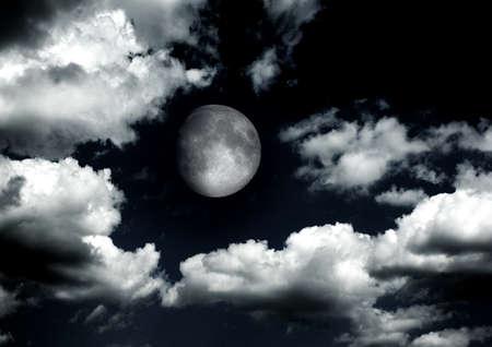 The moon in the night sky Stockfoto
