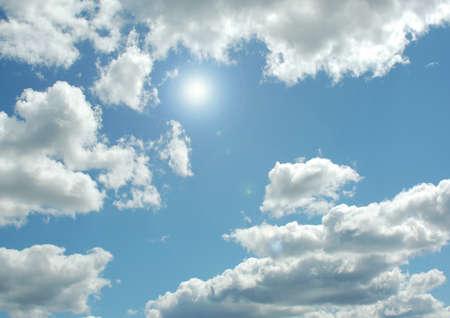 white clouds in a blue sky 写真素材