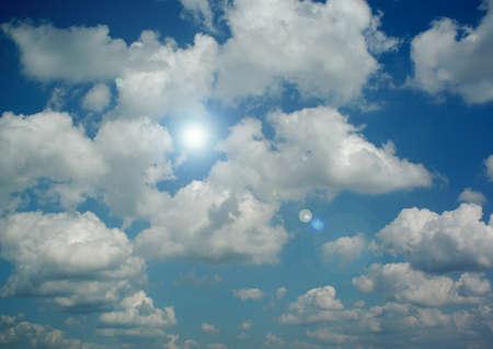 Cloudy sky background 写真素材