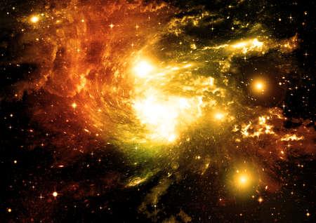 galaxy in a free space. 3D rendering 写真素材