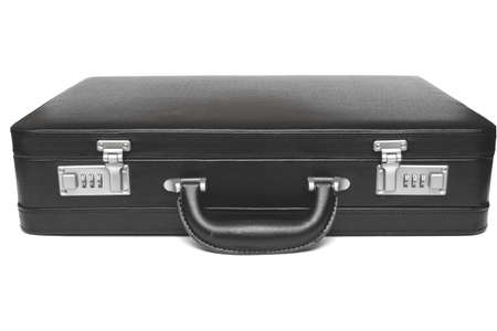 black briefcase: black briefcase on white background