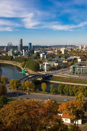 Vilnius. Capital of Lithuania. Bird's-eye view. Stock Photo