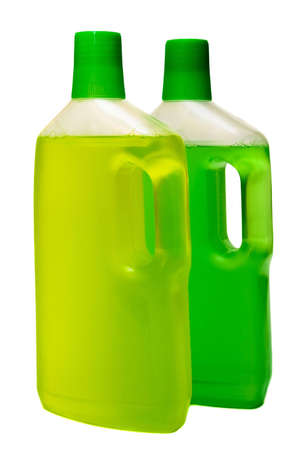 two bottles of cleaneron on white background