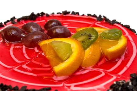 Delicious birthday cake isolated on white background Stock Photo - 7037677