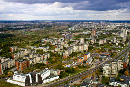 Vilnius. Capital of Lithuania. Bird's - eye view.