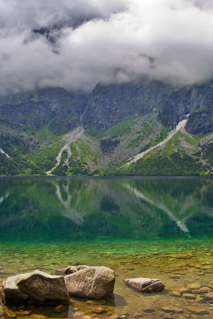 Tatras mountains landscape. Sea eye in Poland