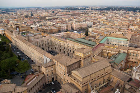 Rome, the capital of Italy. Birds eye view. Stock Photo