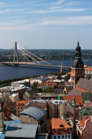 Riga. Capital of Latvia. Bird's-eye view.