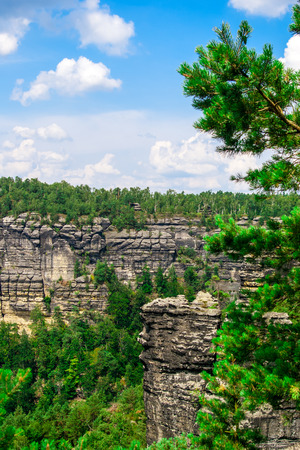 Sandstone Mountains is located in Czech Republic Stock Photo