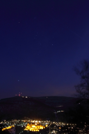 constellation orion above heidelberg photo