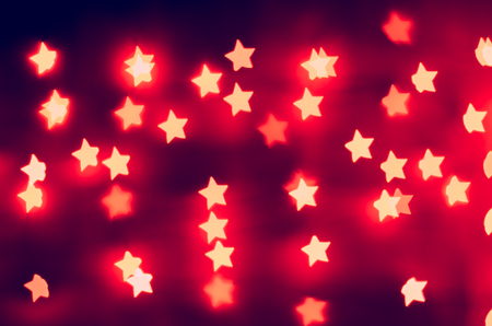 bokeh - lights of the stars (red) Stock Photo