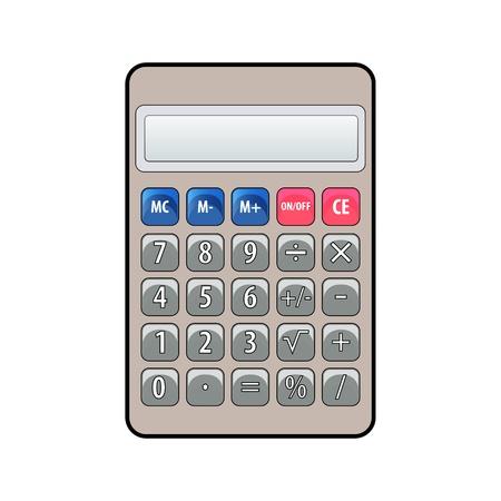 Cartoon calculator Vector