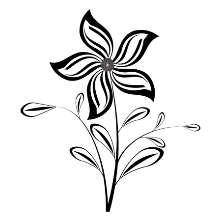 absract: Flower silhouette