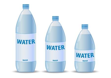 plastic bottle: Water bottles Illustration