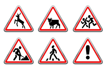 Road signs set 15 Stock Vector - 13620297