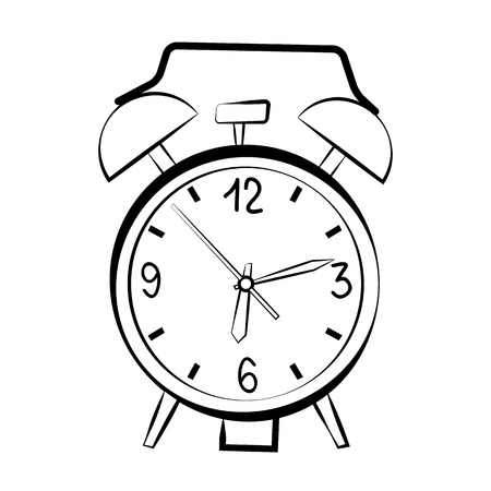 Alarm clock sketch Stock Vector - 13859652