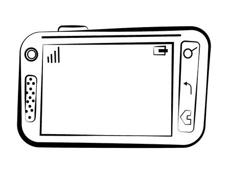 Croquis smartphone Banque d'images - 13859648