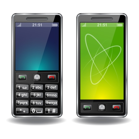 cell phone: Two vector phones Illustration