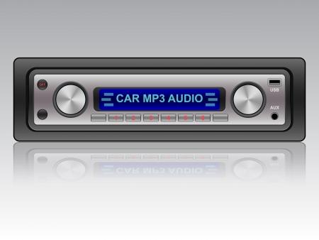 car audio: Car audio vector icon Illustration